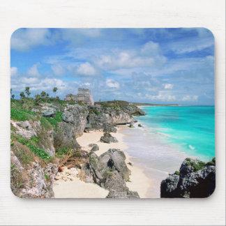 Tapis De Souris Le Mexique, Yucatan, péninsule, ruines de Tulum,
