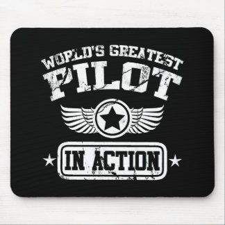 Tapis De Souris Le plus grand pilote du monde dans l'action