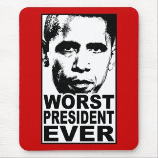 Tapis De Souris Le plus mauvais Président Ever d'Obama