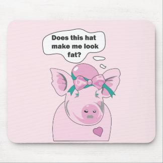 Tapis De Souris Le porc drôle semble gros Mousepad