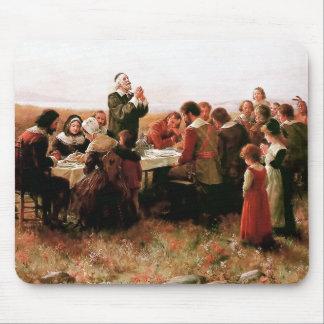 Tapis De Souris Le premier thanksgiving dans Plymouth Mousepad