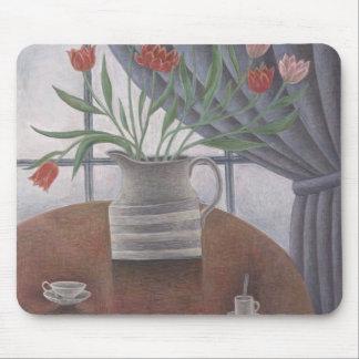 Tapis De Souris Le rideau en tulipes met en forme de tasse 2002