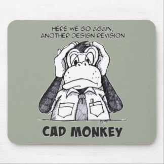 Tapis De Souris Le singe de DAO n'entendent aucun Mousepad mauvais