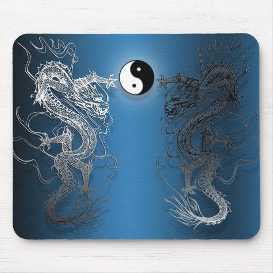 Tapis de souris le ying et yang dragons