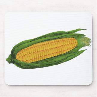 Tapis De Souris Légumes vintages de nourriture ; Épi de maïs jaune