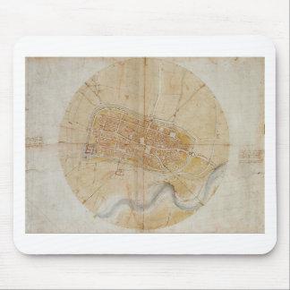 Tapis De Souris Leonardo da Vinci - plan de la peinture d'Imola