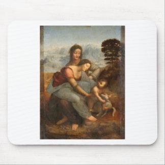 Tapis De Souris Leonardo Vinci - la Vierge et l'enfant avec St