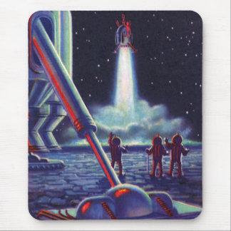Tapis De Souris Les aliens vintages de la science-fiction saluent