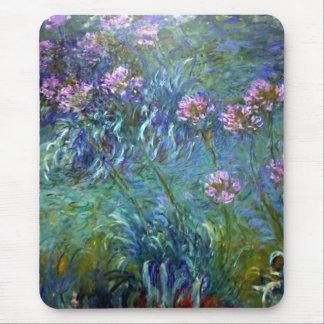 Tapis De Souris Les beaux-arts de Monet fleurissent l'Agapanthus