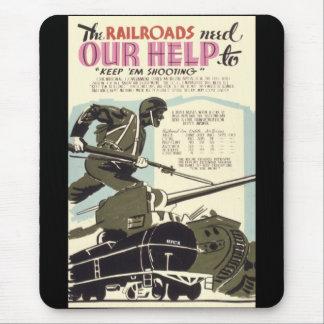 Tapis De Souris Les chemins de fer ont besoin de notre aide
