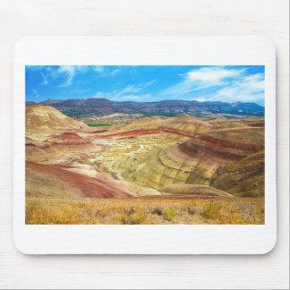 Tapis De Souris Les collines peintes colorées en Orégon oriental