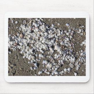 Tapis De Souris Les coquillages l'été de sable échouent la vue