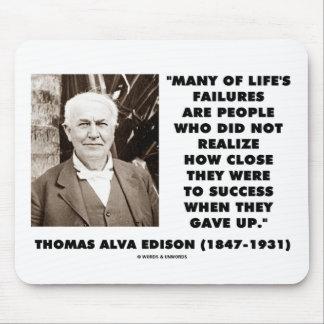 Tapis De Souris Les échecs de Thomas Edison près du succès ont
