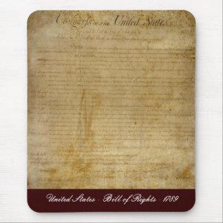 Tapis De Souris Les Etats-Unis d'Amérique déclaration des droits