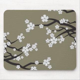 Tapis De Souris Les fleurs de cerisier blanches Sakura fleurissent