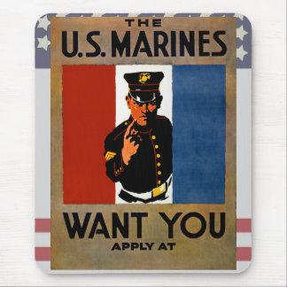 Tapis De Souris Les marines vous veulent