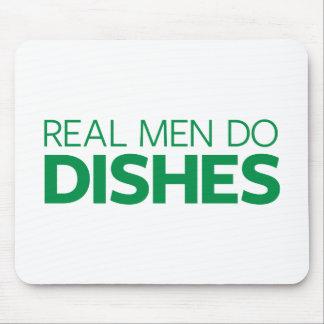 Tapis De Souris Les vrais hommes font des plats