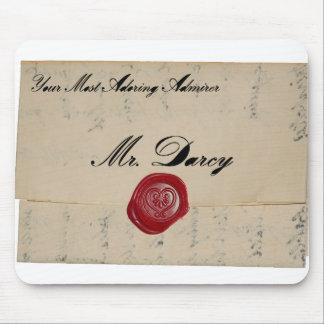 Tapis De Souris Lettre d'amour de M. Darcy Regency Mousepad