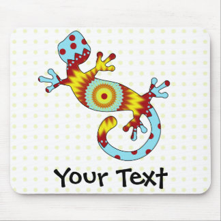 Tapis De Souris Lézard coloré de Gecko d'amusement