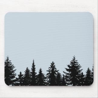 Tapis De Souris Ligne d'arbre rustique silhouette