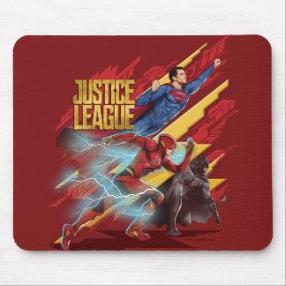 Tapis De Souris Ligue de justice | Superman, éclair, et insigne de