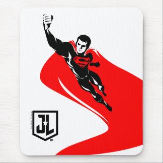 Tapis De Souris Ligue de justice | Superman pilotant l'art de