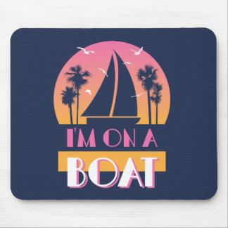 Tapis De Souris L'île isolée - je suis sur un bateau