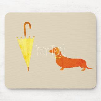 Tapis De Souris L'illustration personnalisée de chien ajoutent le