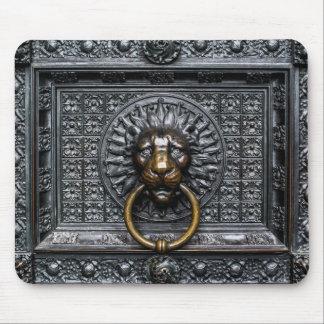 Tapis De Souris Lion de heurtoir - noir/or