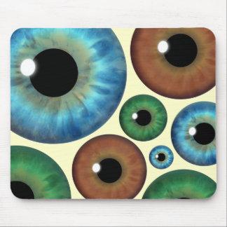 Tapis De Souris L'iris de Brown de vert bleu regarde Mousepad fait