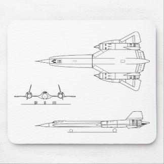 Tapis De Souris Lockheed_YF-12A_3view