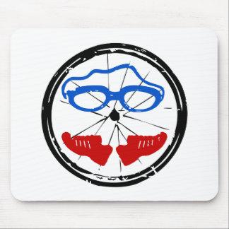 Tapis De Souris Logo artistique frais de triathlon