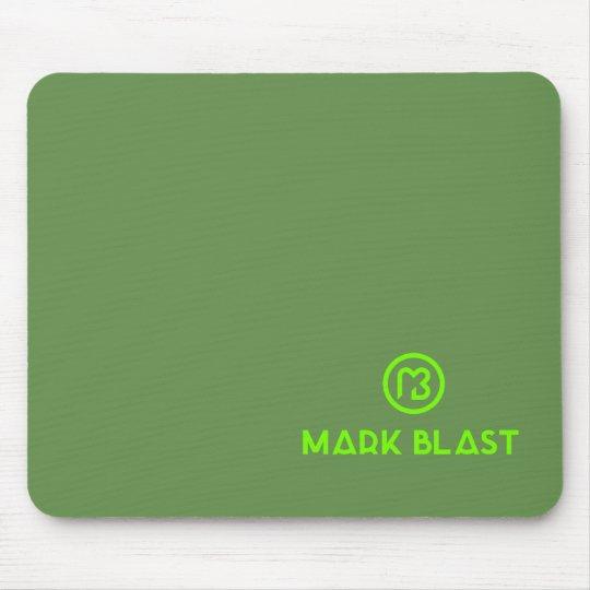 Tapis de souris logo classique vert