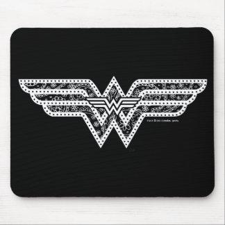 Tapis De Souris Logo de Paisley de femme de merveille