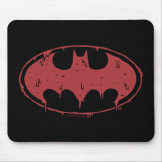 Tapis De Souris Logo de suintement de batte rouge de Batman |