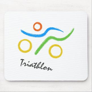 Tapis De Souris Logo de triathlon