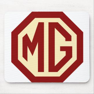 Tapis De Souris Logo Mousepad de MG de rouge et d'or