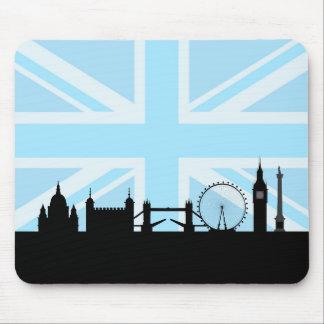 Tapis De Souris Londres situe l'horizon et l'Union Jack
