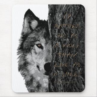 Tapis De Souris Loup contre des moutons