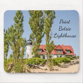Tapis De Souris Lumière du soleil sur le phare de Betsie de point