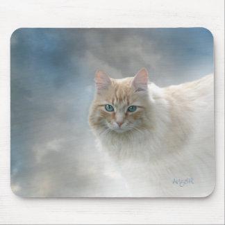 Tapis De Souris © lumineux AH2010 de mousepad de chat de yeux