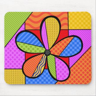 Tapis de souris lunatique de fleur de cubisme