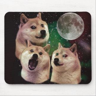 Tapis De Souris Lune de doge - l'espace de doge - chien - doge -