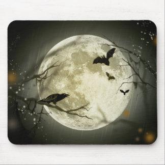 Tapis De Souris Lune de Halloween - illustration de pleine lune