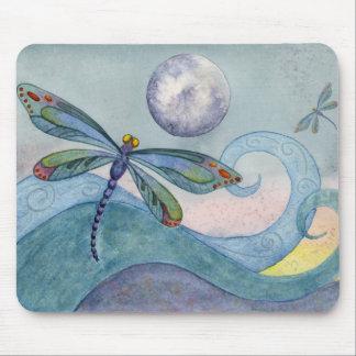 Tapis De Souris Lune Mousepad de libellule