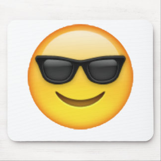 Tapis De Souris Lunettes de soleil - Emoji