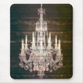 Tapis De Souris Lustre en bois de cru de Paris de grange rustique