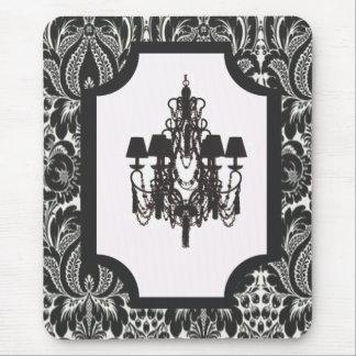 Tapis De Souris Lustre noir vintage de damassé d'art déco de Paris