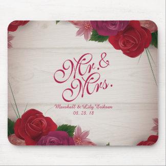 Tapis De Souris M. et Mme Elegant Floral Wedding Mousepad