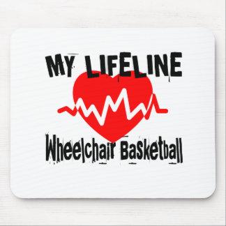 Tapis De Souris Ma ligne de vie basket-ball de fauteuil roulant